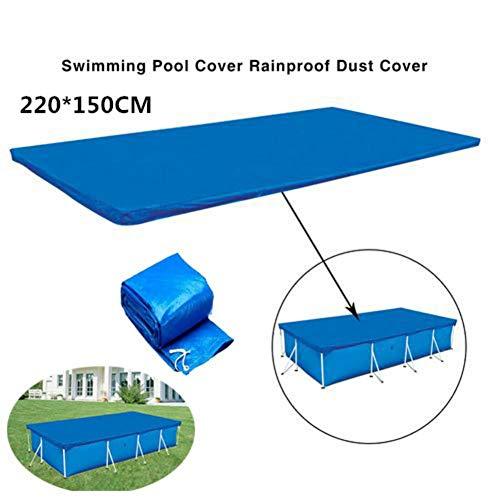 Bâche de piscine rectangulaire hors sol, protection durable contre la poussière, résistante à la pluie 220*150CM -