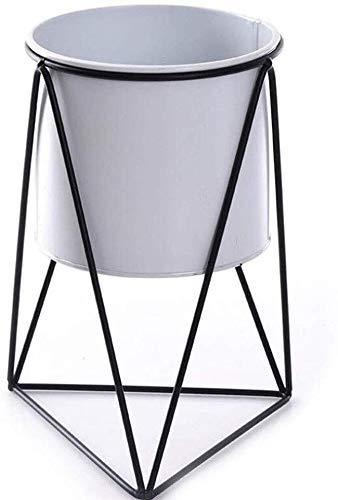 YBB-YB YankimX |Mid Century Modern (Pot Incluso) Indoor Plant Supporto in Metallo stabilimento sorge Indoor Plants Espositore Titolare Planter Vasi Home Decor (Colore: 1black, Dimensione: Large)