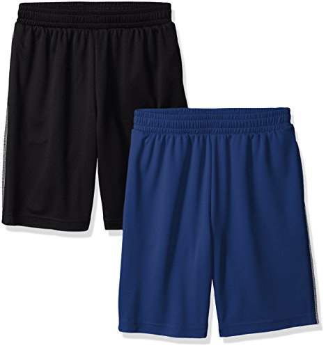 Amazon Essentials Boys' 2-Pack Mesh Short Bañador, Azul Marino/Negro, 3T