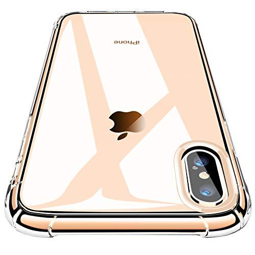 CANSHN Cover Compatibile con iPhone XS Max, Custodia Trasparente per Assorbimento degli Urti con Paraurti in TPU Morbido [Protettiva Sottile] per iPhone XS Max da 6,5 Pollici - Trasparente