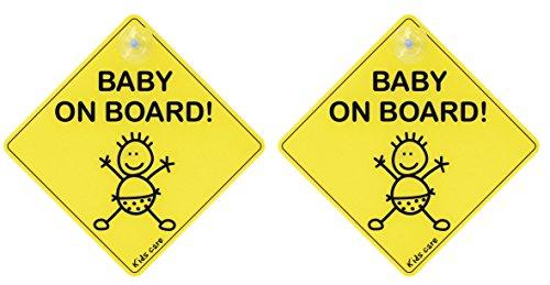 Topcom 10.024.97 Kindersicherheit-Autoschild Baby on Board, gelb