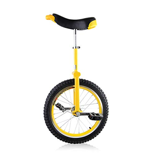 """Einrad Jungen Mädchen Einrad Fahrrad mit 16\""""/ 18\"""" / 20\""""/ 24\"""" Rad, Erwachsene Große Kinder Unisex Adult Anfänger Gelb Einräder, Laden Sie 150 Kg (Size : 16\""""(40cm))"""