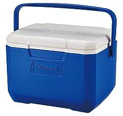 Coleman Performance 6 Personlig køleboks, passiv lille termobox til mad og drikke, isboks med håndtag, blå / hvid, en størrelse