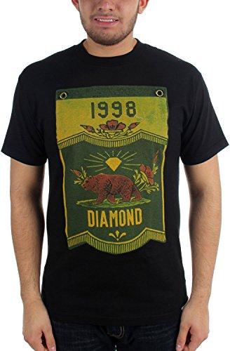 Diamond Supply Co. Herren Diamant Banner x Grizzly T-Shirt, Medium, Black