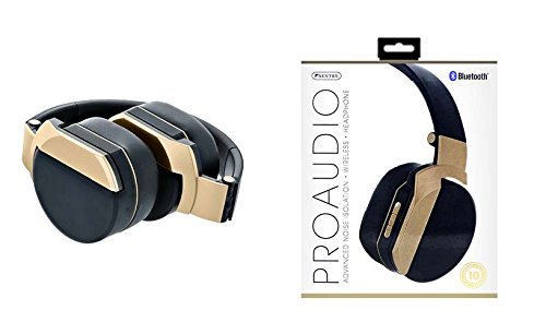 Sentry Pro Audio Studio Style Bluetooth Gold Headphone with Built-in Mic, BT1000