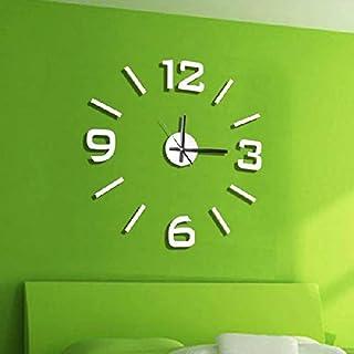 comprar comparacion Dcasa Adhesivo Pared Relojes de Chimenea Decoración del hogar Unisex Adulto, Blanco (Blanco), única