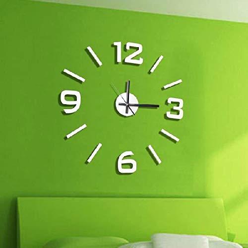 Dcasa Adhesivo Pared Relojes de Chimenea Decoración del hogar Unisex Adulto, Blanco (Blanco), única