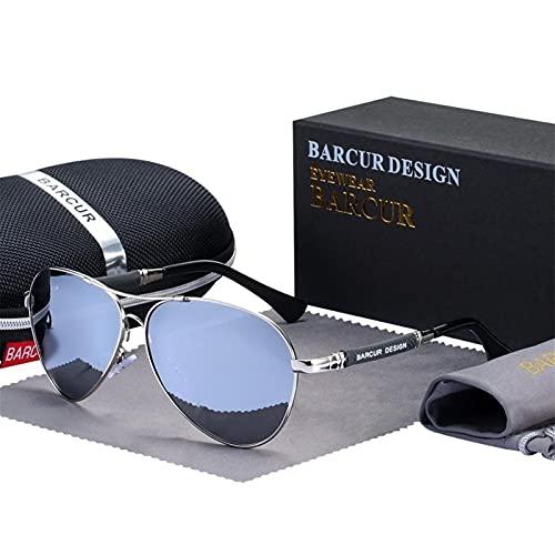 ZHATAOZH Gafas de Sol de aleación de Titanio Gafas de Sol polarizadas para Hombres Mujeres Piloto Gradiente Gafas Mirror Sombras Oculos de Sol Gafas de Sol Polarizadas Hombres Cool Formas Deportes