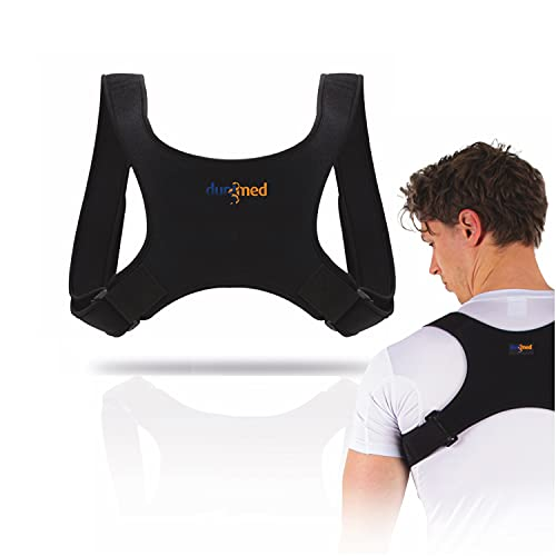 Dunimed Haltungskorrektur - Für eine gesunde Körperhaltung ohne Rückenschmerzen - Rückengurt - Geradehalter Rücken - Haltungstrainer - Unisex