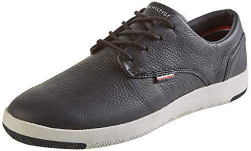Tommy Hilfiger Herren Gregory 12A Sneaker, Black, 46 EU