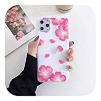 Perqo iPhone 12 11 Pro max X XR XS MAX SE 2020 6S 78プラスホワイトケース用のファッションエンボスローズフラワーフロストソフトフォンケース-Style 10-For iphone12Pro MAX