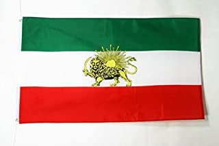 AZ FLAG Iran Old Flag 3' x 5' - Former Iranian Flags 90 x 150 cm - Banner 3x5 ft