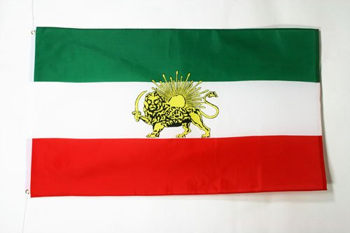 AZ FLAG Flagge Iran ALT 150x90cm - IRANISCHE Fahne 90 x 150 cm - flaggen Top Qualität
