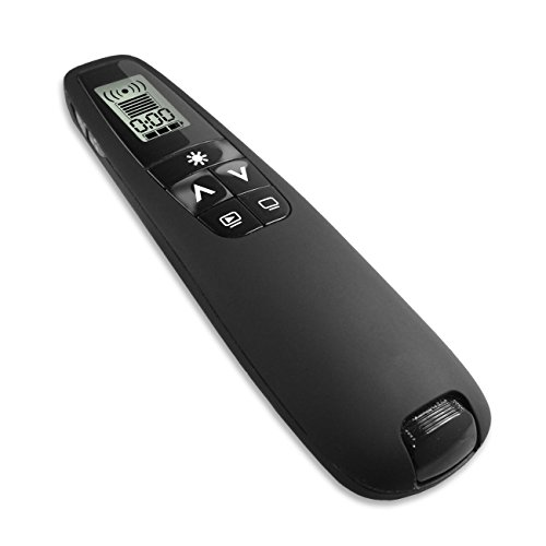 Clever Wireless Presenter Remote Control C850 Presentation Wireless Presenter with Green Laser Pointer, Compatible With Mac and PC, Ideal Presenter for PowerPoint Presentations or Power Point Slide