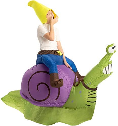 Spooktacular Creations Inflatable Halloween Costume Gnome Ride A Snail Ride On Inflatable Costume product image