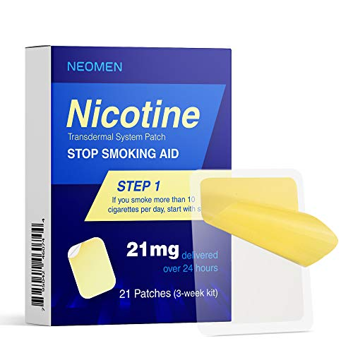 Neomen Nicotine Patches to Quit Smoking, Anti-Smoking Patch, Stop Smoking Aid Step 1, 21mg