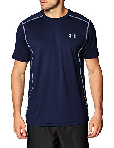 Under Armour Men's Raid Short Sleeve T-Shirt, Midnight Navy (410)/Steel, XX-Large