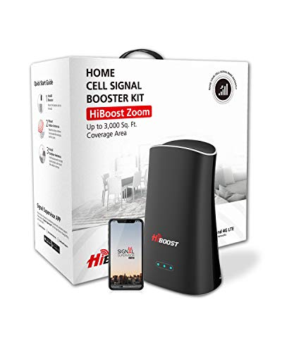 HiBoost Cell Signal Booster for Home and Office Signal Extender Cellular Booster Signal Amplifier Supports up to 3,000 SQ. FT Compatible with AT&T, T-Mobile, Verizon, Sprint, and US Cellular