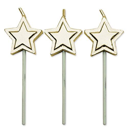 PME Velas de Estrellas Doradas, Juego de 8