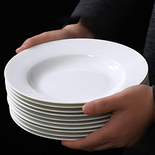 Juegos de platos de cena, plato de 20 cm, para la cocina y el comedor del hogar, platos de postre, plato de frutas, 10 piezas