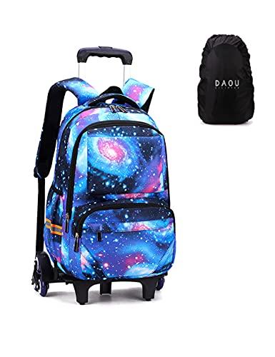 Mochila Escolar con Ruedas Trolley Bag Equipaje Infantil Mochilas Carro Infantiles Bolsas Escolares Tipo Casual Escuela Cabina Niños Galaxia 6 Rondas