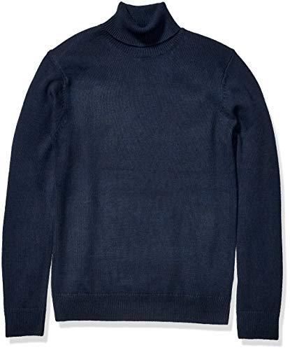 Amazon Brand - Goodthreads Men's Supersoft Marled Turtleneck Sweater, Navy Small