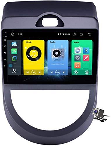 Android 9.1 Navegación GPS Estéreo Radio para Kia Soul Am 2008-2011, 9'Pantalla Coche Media Player Soporte CARPALY / 5G FM RDS/Control Volante/Bluetooth Manos Libres