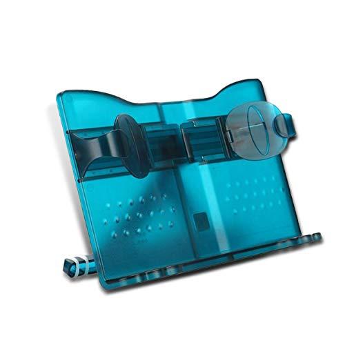 MARSACE ブックスタンド 書見台 折りたたみ 読書台 譜面台 本立て 視力保護 姿勢?正 肩こり解消 移動式 プラスチック 透明のブルー