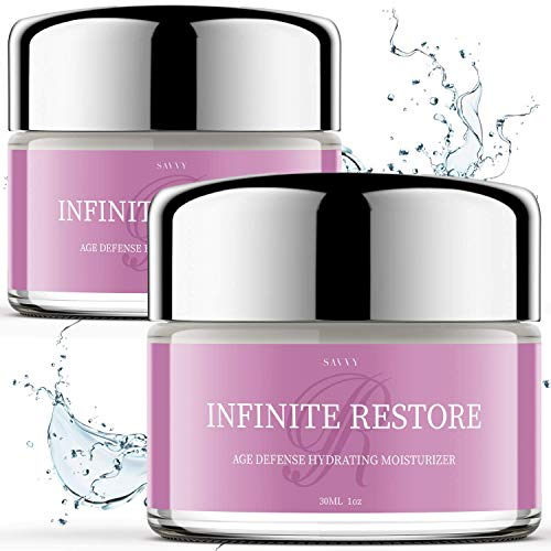 (2 Pack) Infinite Restore Moisturizer Age Defense Hydrating Cream, Anti Aging Skin Care for Face Wrinkles and Fine Lines Age Spots - Collagen Production Beauty (2oz)