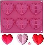 GSHWJS Moldes de Silicona Mousse 3D Molde DIY para decoración de Pastel Jelly Pudding Candy Chocolate 8 Agujeros Corazón, Silicona, Rosa, Molde de corazón Rosado Molde de Silicona