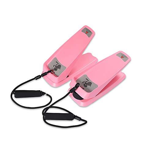 Mini-Stepper, Nuovo Mini Stepper per Attrezzature per Il Fitness Multifunzione Domestica, può ridurre Il Peso, Le Belle Gambe, Il Peso Massimo 100 kg, Dotato di Corda di Allenamento,Rosa