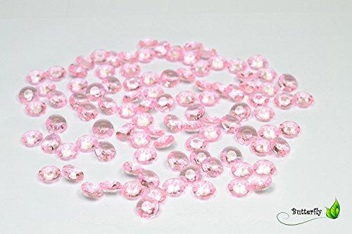 Creativery 100 Dekosteine Diamanten 12mm (hell rosa 150) // Deko-Steine Diamanten 1,2 cm Streudeko Tischdeko Steine Diamonds Kristall Hochzeit Streuteile