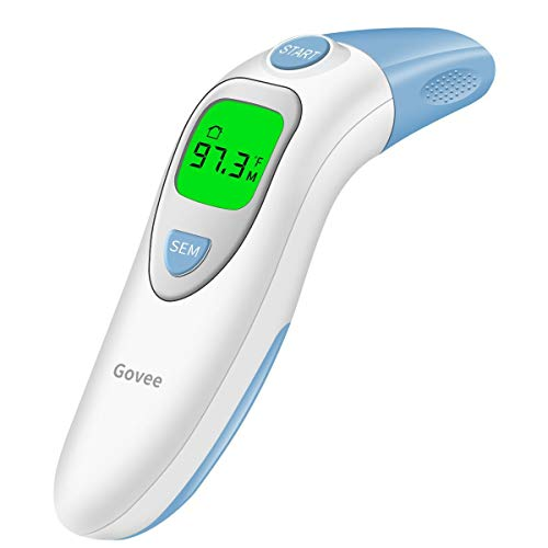 Govee Forehead Thermometer, Head Ear Thermometer for Baby Kids Adults, Digital Infrared Medical Thermometer for Fever by MINGER, 5-in-1 Accurate Instant Read