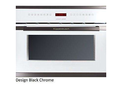 Küppersbusch Einbau-Dampfgarer EDG6550.0, 45 x 56 cm, Design:weiß + Black Chrome