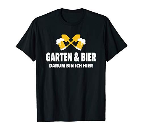 Garten Bier T-Shirt Hobbygärtner Bierliebhaber Geschenk T-Shirt