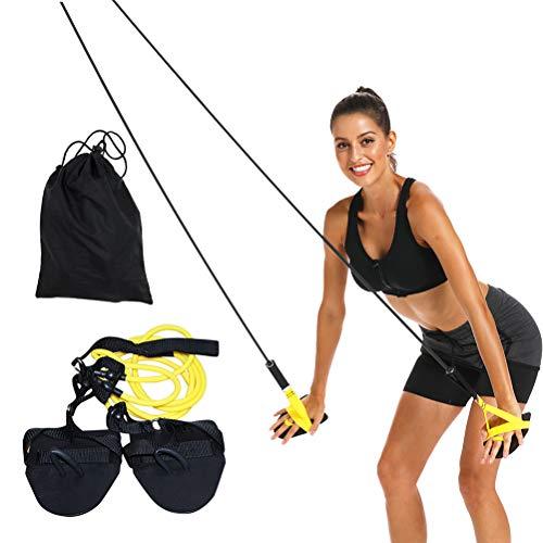 WINBST Training Equiptment Dry Land Cord Zugseil Schwimmtrainer, Widerstandsband und Paddles fürs Armzug-Training, Krafttraining