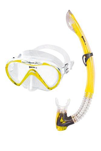Mares VENTO Junior Schnorchelset Tauchmaske mit Schnorchel (gelb)