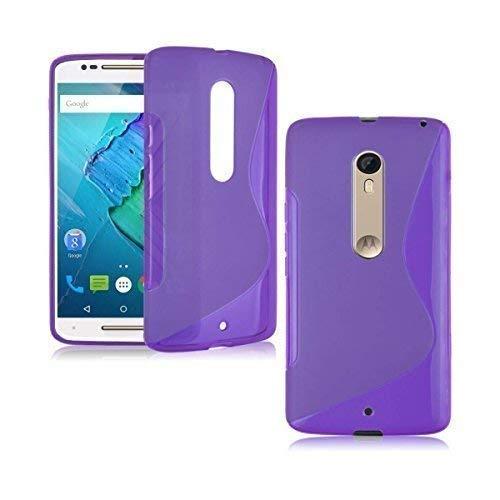 Motorola Moto X Style S-Line Silikon Gel In Lila Cover Case von Gadget Boxx