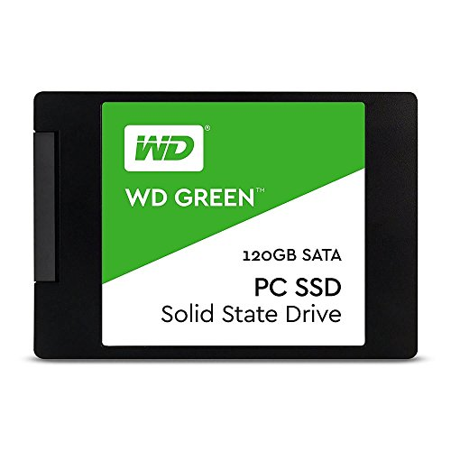 WD Green PC SSD - Disco Duro sólido de 120 GB (Serial ATA III, SLC, 2.5', FCC, UL, TUV, KC, BSMI, VCCI)