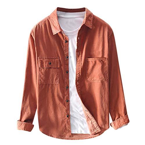 Briskorry cord hemd herren Beiläufig retro corduroy slim fit Warm halten Einfarbig Brusttaschen Lange Ärmel Hemden vintage shirt