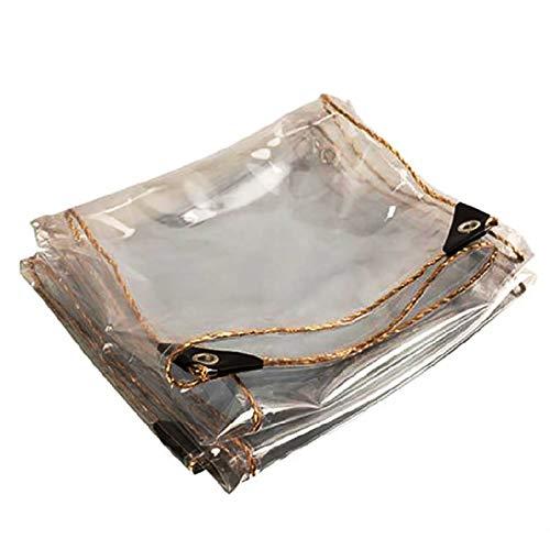 Claro Impermeable Cubierta De Lona, PláStico Transparente Lona BalcóN del Parabrisas del Poncho De PVC Blando Cristal,BalcóN Al Aire Libre, Cubierta De Lluvia Gruesa(0.8x2m(2.6x6.6ft))