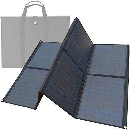 Cargador Solar, 200W Panel Solar Cargador con 8 Paneles Solares Pliegue, Power Bank Solar Accesorios Completos Eficiente Impermeable, para Turismo, Camping, Senderismo, Aventura, Ciclismo