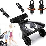 Buggy Board Trittbrett Mitfahrbrett universal passend für alle Kinderwagen Buggy Sportwagen Jogger/Zusatzsitz (Erweiterung) mit Sicherheitsgriff 3-fach höhenverstellbar (Buggy Board)
