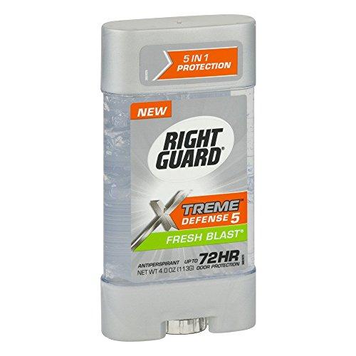 Right Guard La defensa total de energía en gel desodorante antitranspirante explosión fresca 4 onzas Claro