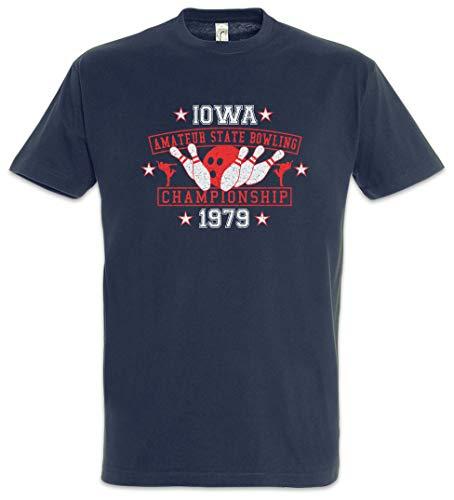 Urban Backwoods Iowa Amateur State Bowling Herren T-Shirt Blau Größe 4XL