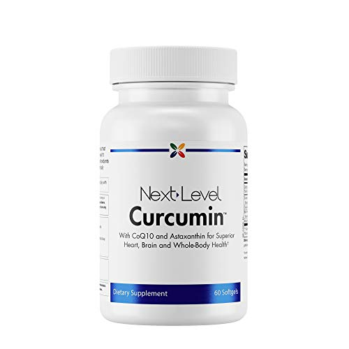 Stop Aging Now - NextLevel Curcumin - with CoQ10 and Astaxanthin for Superior Heart, Brain and Whole-Body Health - 60 Softgels
