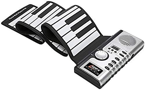 Piano Teclado Enrollable portátil Instrumento de música electrónico portátil Rollo de Mano Piano Teclado de Silicona Ambiental Cuerno Chico Juguete para Adultos Fantastic