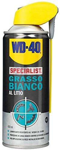 WD40 12221 Grasso Spray Bianco al Litio, Trasparente, 400 ml