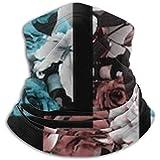 Bufanda con Estampado geométrico de Rosas cálidas para el Cuello, una máscara o Sombrero para la Cara Completa, Polaina para el Cuello, máscara para Esquiar con Gorra para el Cuello