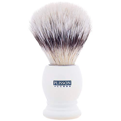 Plisson Rasierpinsel, Perlmutt, weiße Fasern, Größe 12